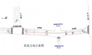 9月11日起广州茶滘路与东漖北路路口东西方向禁止左转