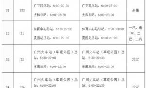 2020年12月25日起广州延长44条公交线路运营时间