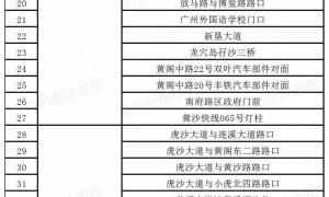 2021年3月30日起广州南沙区新增52套电子警察