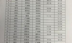 2021年7月23日广州南站停运车次汇总