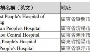 香港认可的广东省核酸检测机构有哪些?