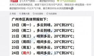 台风冷空气即将来袭广州最低气温跌破20℃