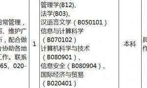 2020广州番禺区面向社会公开招聘事业单位工作人员