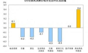 中国6月CPI同比上涨2.5%(组图)