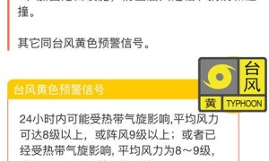 广州台风白色预警信号要停课吗?
