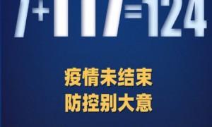 1月24日31省区市新增确诊124例含本土117例