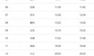 广州东站k678次列车途经站点有哪些?