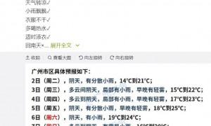 2021年3月2日广州天气局部有小雨15℃~21℃