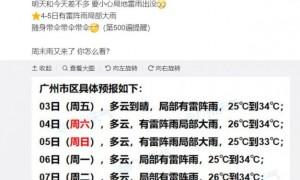 2021年9月3日广州天气雷阵雨局部暴雨26℃~34℃