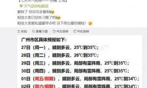 2021广州国庆节天气怎么样穿什么衣服?