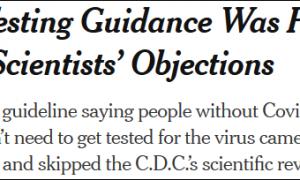 """""""美国疾控中心的科学家害怕极了,无论怎么做都摆脱不了甩锅"""""""