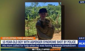 美国13岁自闭症男孩被警察连开数枪,倒地后说:告诉妈妈我爱她
