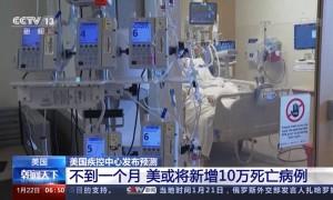 美疾控中心:不到一个月 美或将新增10万死亡病例