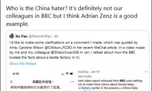 """""""外国媒体憎恨中国吗?""""英驻华大使发文,胡锡进、《中国日报》记者接招"""