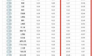 2020国庆广州地铁2号线几点停运?