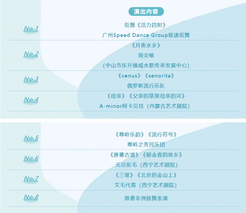 2021广州海珠湿地音乐节演出时间表一览