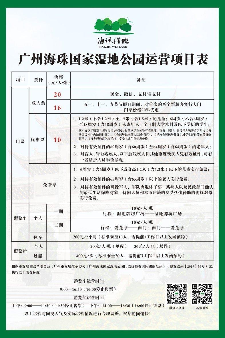 2021清明节广州海珠湿地开放时间是几点?