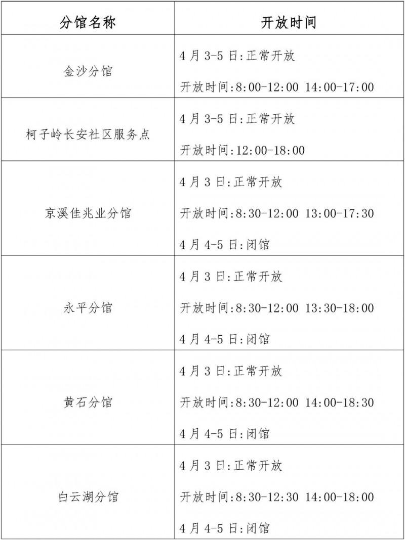 2021广州白云区图书馆清明节开放时间一览